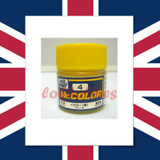 Mr hobby gunze color peinture acrylique 10ml 4 jaune brillant