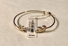 NWT Vera Bradley Gold Tone Pave Leaf Bracelet! Very Pretty!