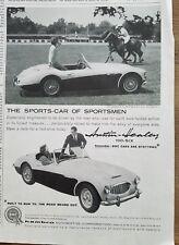 1959 Austin Healey 100-Six sports car at Polo Club Purchase NY ad