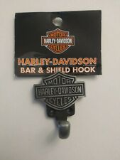 Harley-Davidson Bar and Shield Single Coat Zinc Wall Hook with Hardware
