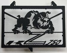 cache grille radiateur Kawasaki Z750 07>12 Bulldog noir mat + grill blanc