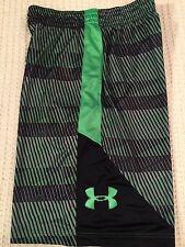 Under Armour Men's Running Shorts - Black Green Medium