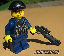 Brickarms Combat Shotgun for Lego Minifigures (5 Pack) Black
