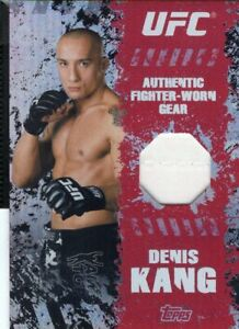 Denis Kang 2010 Topps UFC Main Event Fighter Gear Relic Card