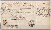 Thurn und Taxis, Paketbegleitbrief K 1 Frankfurt am Main 1856