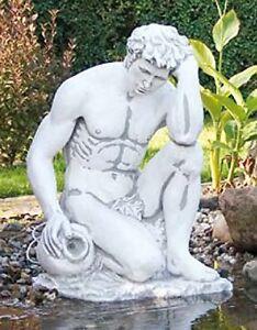 Adam mit Amphore (S402) Akt Mann Wasserspiel Gartenfigur Skulptur Statue