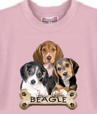 Dog T Shirt - Beagle Dog Bone ------ Cat T Shirt Available -- USA Free Shipping