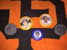 SAN FRANCISCO GIANTS Jack Clark,Juan Marichal,Manny Trillo Metal Buttons