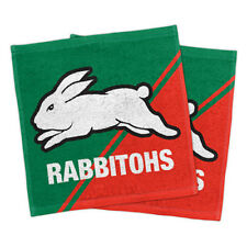 South Sydney Rabbitohs NRL Face Washer set of 2 Towel Washcloth Flannel Gift