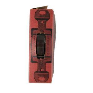 Vtg Monowatt Electric Body & Trigger Bakelite Three Way Flush Toggle Switch NOS