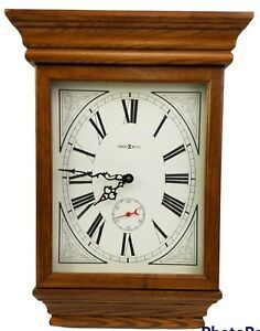 "Vintage Howard Miller Oak Quartz Wall Clock 613-239 ""Fables"" Made In USA"