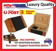 Hand Made 50 Count Cigar Humidor Box Wooden Venner Burl Humidifer Hygrometer U