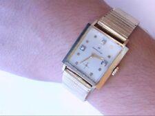 Vtg Hamilton Square 10K RGP/SS Swiss Dia Dial Wrist Watch. 17 J CAL 637. RUNS!!