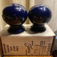 Fiesta Ware Salt and Pepper Shakers Homer Laughlin COBALT BLUE NEW IN BOX