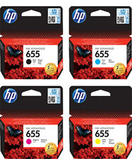 4x HP 655 ORIGINAL TINTE PATRONEN DeskJet Ink Advantage 3525 4615 4625 5525 6525