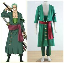 One Piece RORONOA ZORO II Green Anime Cosplay Costume