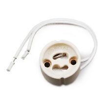 20 Stück Fassungen GU10 für Halogen, LED Lampe Sockel Fassung Keramik m.Kabel EX
