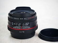 Pentax HD DA 15mm f/4.0 ED AL Limited Lens