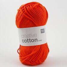 Rico Creative Cotton Aran - 100% Cotton Knitting & Crochet Yarn - Orange 74
