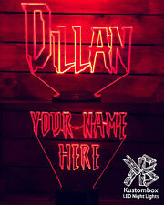 SPIDERMAN PERSONALISED NAME FONT LED Night Light Lamp 7 Colour + Remote Control