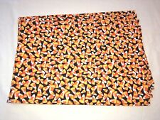 Halloween Holiday Candy Corn Black Orange Yellow White Set of 4 Placemats