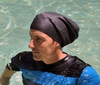 EXTRA LARGE Swim Cap for Dreadlocks & Braids in Black OR Blue, NEW & IMPROVED