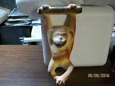 "HANGING MONKEY BAKED CLAY SCULPTURE 13""H"