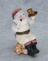 PHB Midwest of  Cannon Falls Bisque Santa Making Toys Trinket Box
