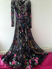 ASOS sequined embellished long gown / dress size 8