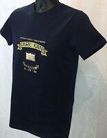 Karl Kani Designer Trademark Embroidered T-Shirt Navy Signature Gold