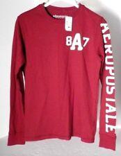 Aeropostale 6480 Wmns/Jrs Red L/S Logo A87 T-shirt Sz S/P NWT Ret. $32.50