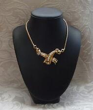 Girocollo Necklace Coro Craft Tono Oro Giallo e Baguette Stati Uniti 1940