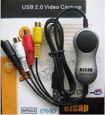 EzCAP USB Video CAPTURE CARD EzCAP116, XP/Vista/Win7/Mac - HD size video to YT