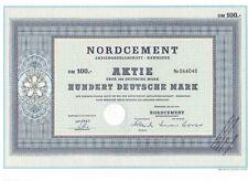 Nordcement AG 100dm Hannover 1964