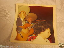 MEXICO 1970'S VINTAGE 2 PHOTO'S GUITAR SPANISH BAND & MAN CHANGING STRINGS