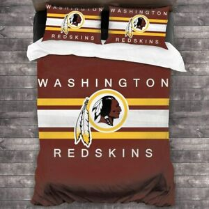 Washington Redskins Bedding Set Comforter Cover Pillowcases 3PCS Duvet Cover Set