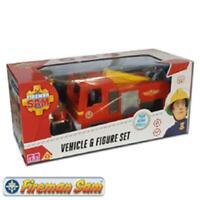 Fireman Sam Jupiter Fire Engine & Figure Play Set - Brand New