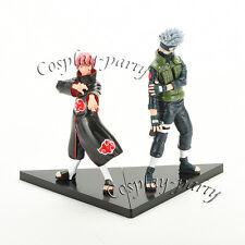 Naruto Akatsuki Sasori Kakashi Hatake PVC Action Figures Dolls Toys 2Pcs Set New