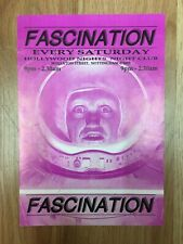 Fascination Rave promo flyer early 90's Grooverider, Mickey Finn, DJ Rap, DJ SS