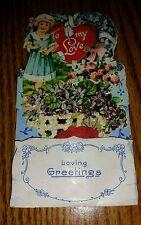 Loving Greetings Vintage Valentine To My Love Printed in Germany