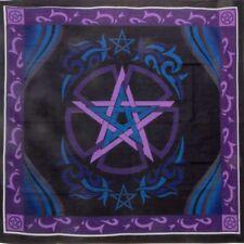 """Celtic Pentacle Altar Cloth 36"""" x 36"""" 100% Cotton Purple, Blue, Black, Grey"""