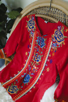 S The Farmhouse Rose Boho Embroidered Blouse Top Small Bohemian NEW NWT Peasant