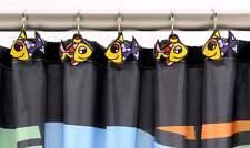 Romero Britto Shower Curtain Hooks - Fish Design  - Set of 12 -  NEW #333002