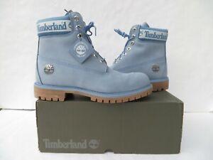 Timberland Men's Boots Premium Waterproof Boot 6 Inch 10.5 Light Blue Nubuck NEW
