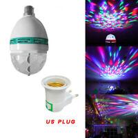 3W RGB Crystal Ball Auto Rotating LED Stage Light Bulb Disco Party Lamp E27