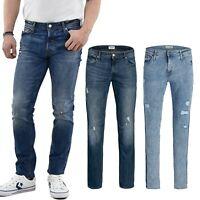 Jack and Jones Mens Super Stretch Skinny Slim Fit Jeans Distressed Pants 28-54