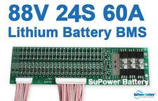 80V 92.4V 24S 60A 24x 3.6V / 3.7V / 4.2V Lithium Li-ion Li-Po Battery PCB BMS