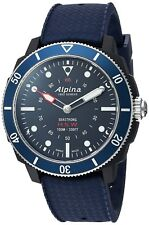 Alpina Men's Horological Quartz Stainless Steel and Rubber Smart Watch BLUE