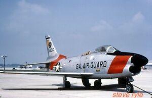 MILITARY AIRCRAFT SLIDE - F-86D SABRE USAF 51-5896 - C1985 - DUPLICATE