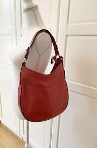 ABRO Adria Beuteltasche Rot * Leder Tasche * Hobo Bag